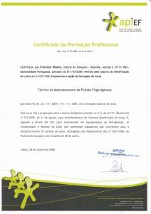 Formação para Técnico de Manuseamento de Fluídos Frigorigéneos