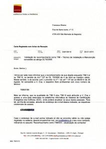 Certificado de TIM II: Técnico de Instalação e Manutenção de Sistemas de Climatização com P<100 kW (Renovação)